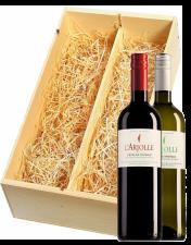 Wijnkist met Domaine de l'Arjolle rood en wit