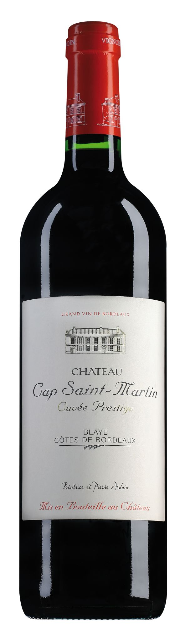 Château Cap Saint-Martin Blaye Côtes de Bordeaux Cuvée Prestige bij 6 flessen in originele kist