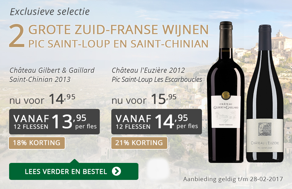 Exclusieve wijnen februari 2017 - grijs/goud