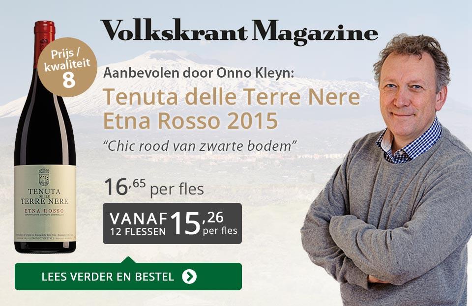 Volkskrant Magazine: Tenuta delle Terre Nere Etna Rosso - grijs/goud