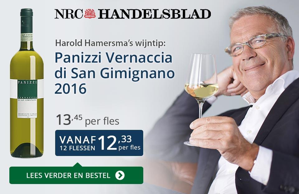 NRC Handelsblad: Panizzi Vernaccia di San Gimignano - blauw