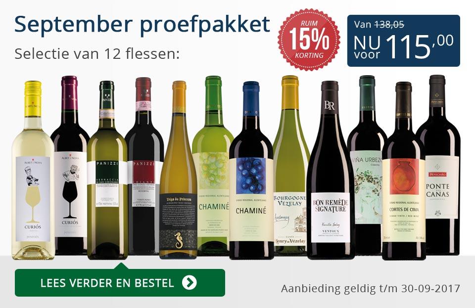 Proefpakket wijnbericht september 2017 (115,00) - blauw