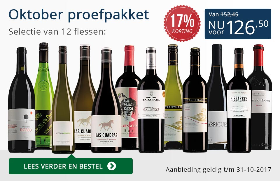 Proefpakket wijnbericht oktober 2017 (126,50) - blauw