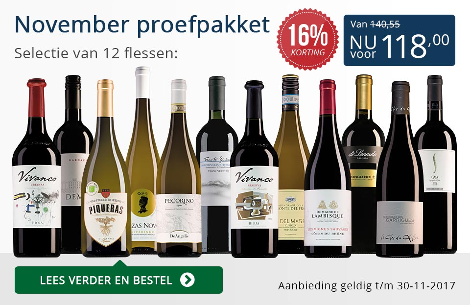 Proefpakket wijnbericht november 2017 (118,00) - blauw