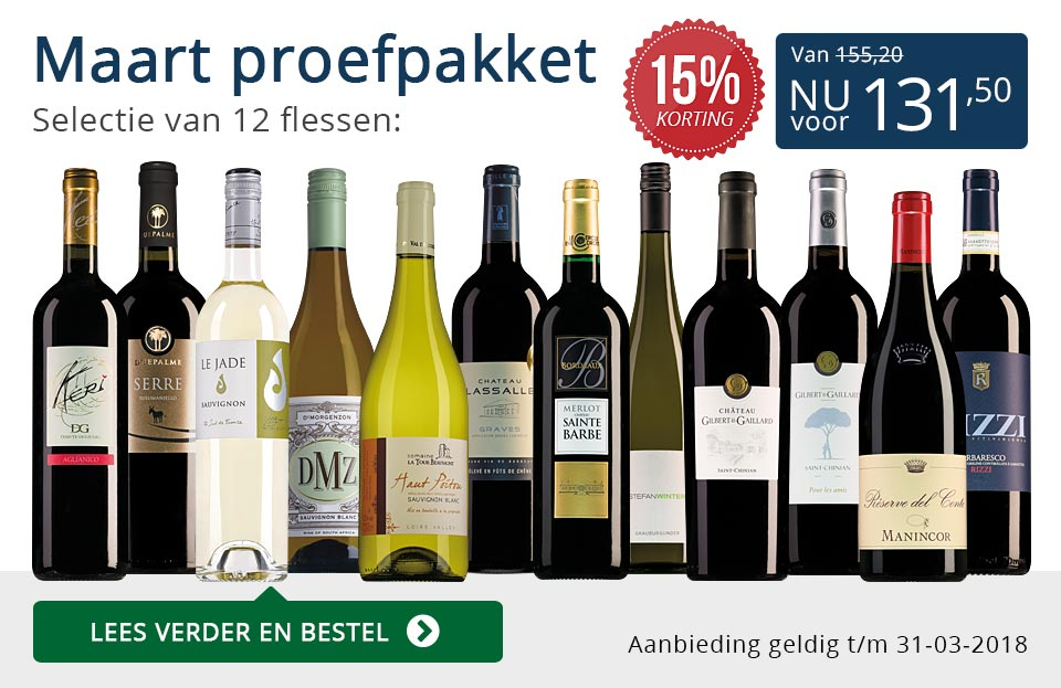 Proefpakket wijnbericht maart 2018 (131,50) - blauw