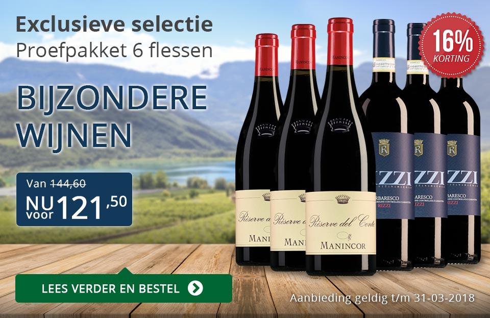 Proefpakket bijzondere wijnen maart 2018 (121,50) - blauw