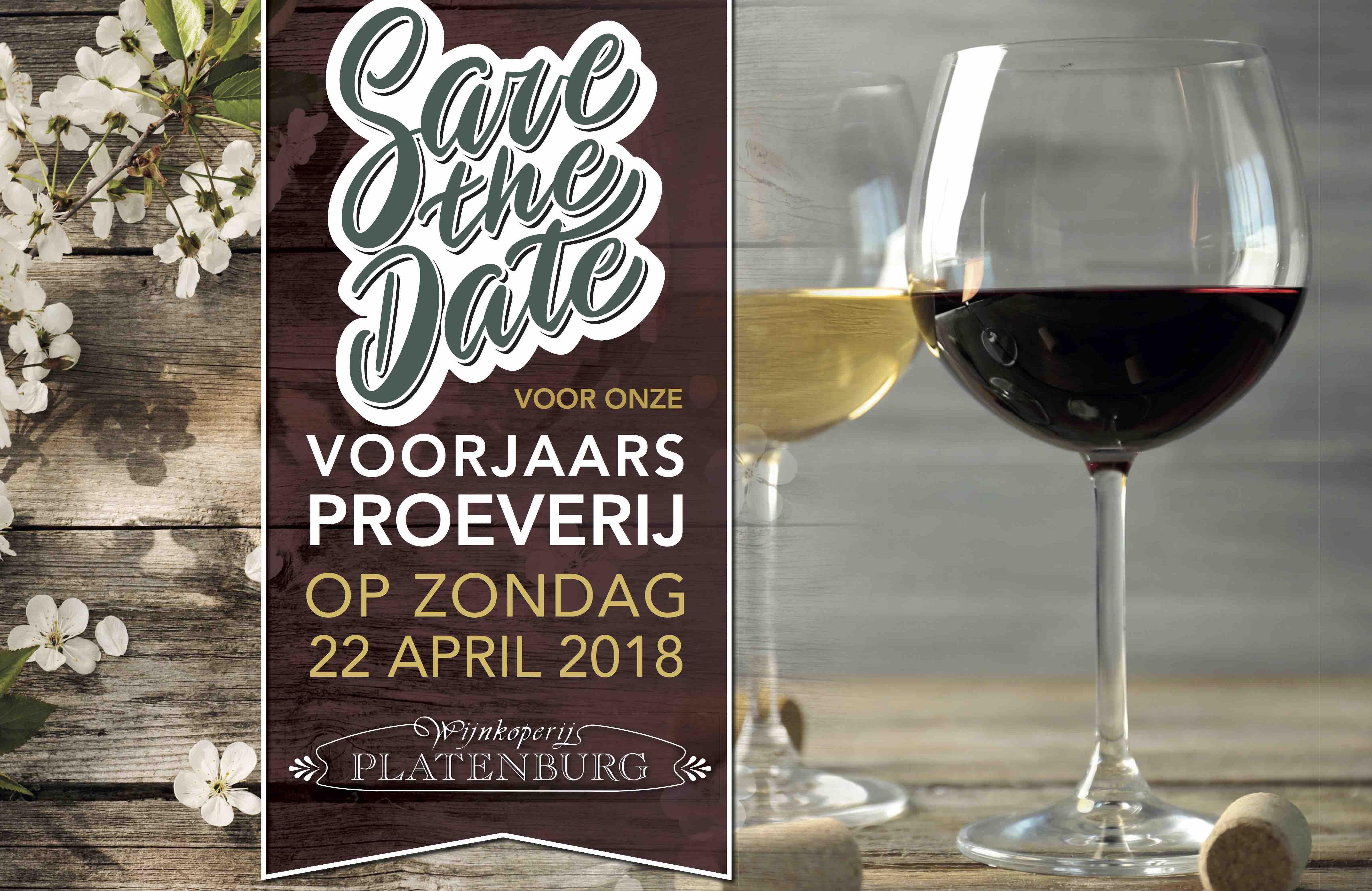 Save the Date wijnproeverij