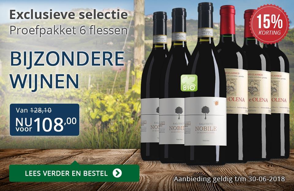 Proefpakket bijzondere wijnen juni 2018 (108,00) - blauw