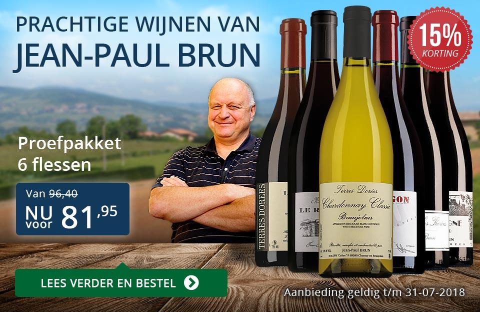 Jean-Paul Brun prachtige wijnen (81,95) - blauw