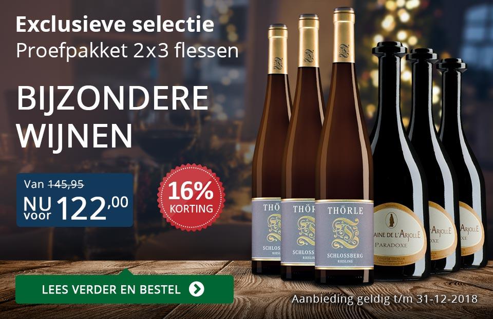 Proefpakket bijzondere wijnen december 2018 (122,00) - blauw
