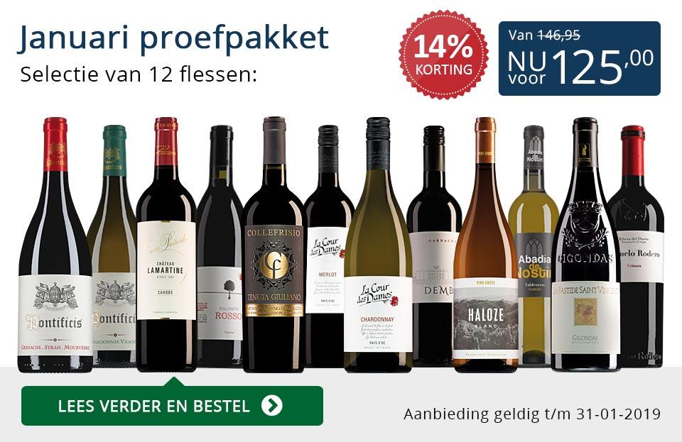 Proefpakket wijnbericht januari 2019 (125,00) - blauw