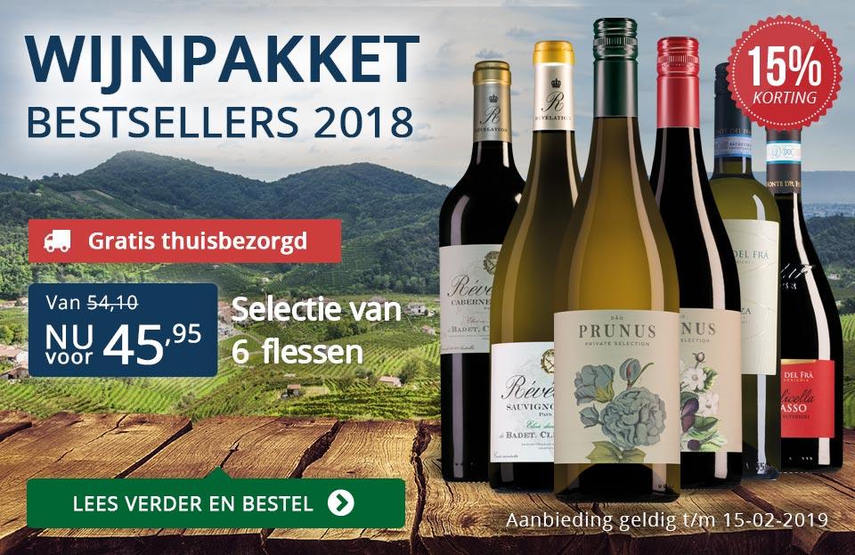 Wijnpakket bestsellers 2018 met knallende korting met gratis verzending - blauw