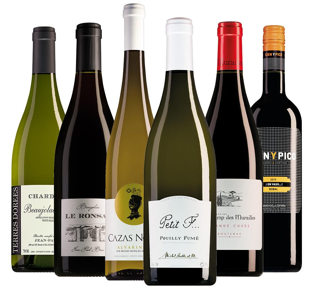 Wijnpakket luxe zomerwijnen (6 flessen)
