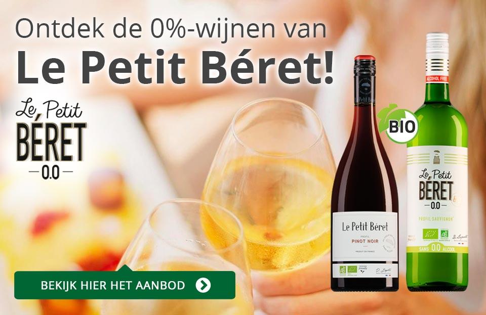 Le Petit Béret: hét alcoholvrije alternatief voor wijn - blauw