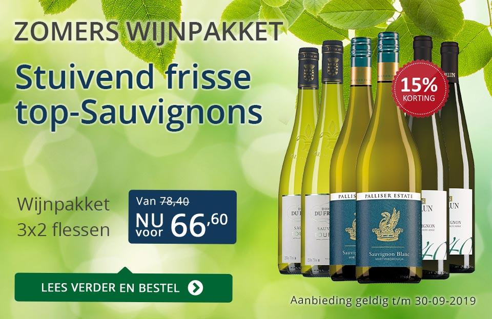 Wijnpakket Sauvignon Blanc - blauw