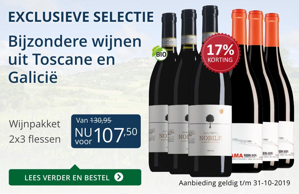 Wijnpakket bijzondere wijnen oktober 2019 (107,50) - blauw