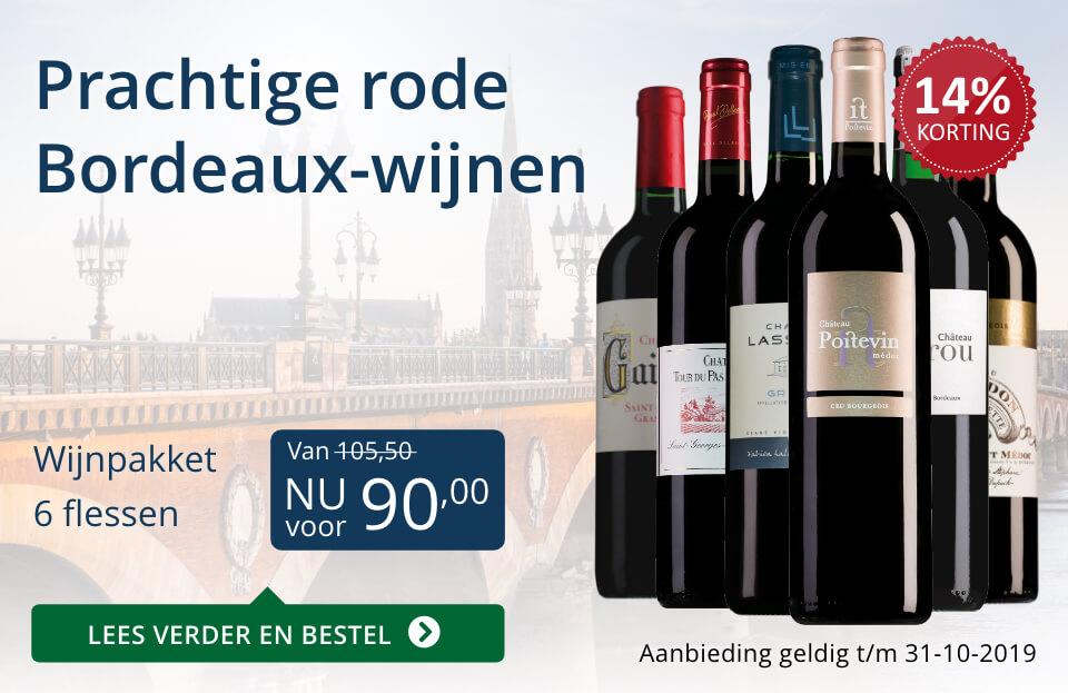 Wijnspecial Wijnpakket rode Bordeaux-wijnen (90,00) - blauw