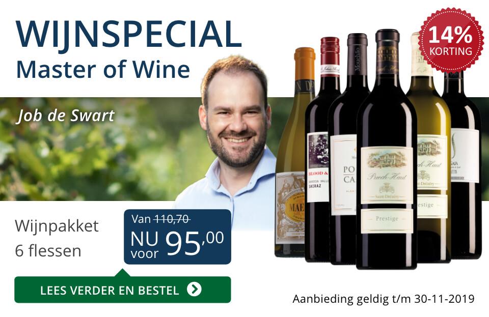 Wijnspecial Wijnpakket Master of Wine - blauw