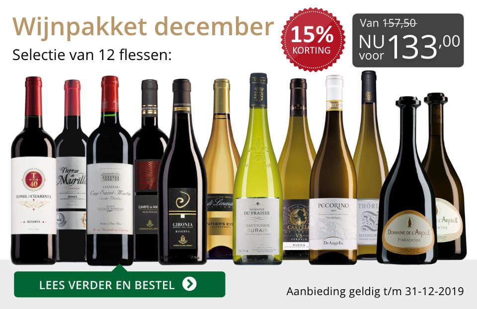 Wijnpakket wijnbericht december 2019 (133,00) - grijs/goud