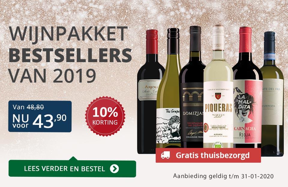 Wijnpakket bestsellers 2019 - Blauw