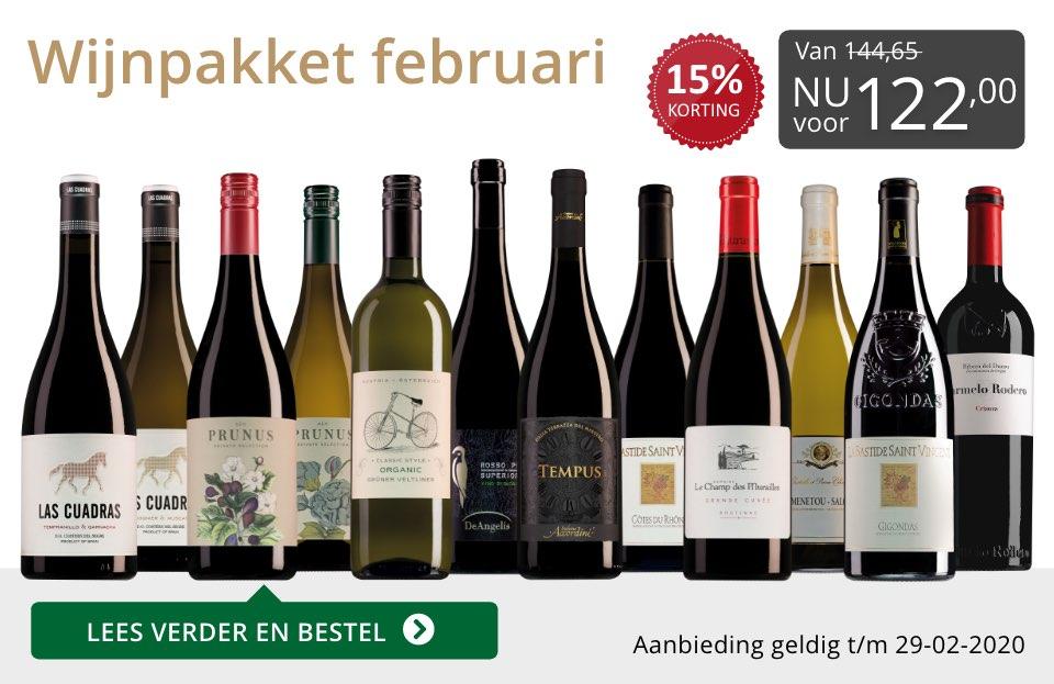 Wijnpakket wijnbericht februari 2020(122,00) - grijs/goud