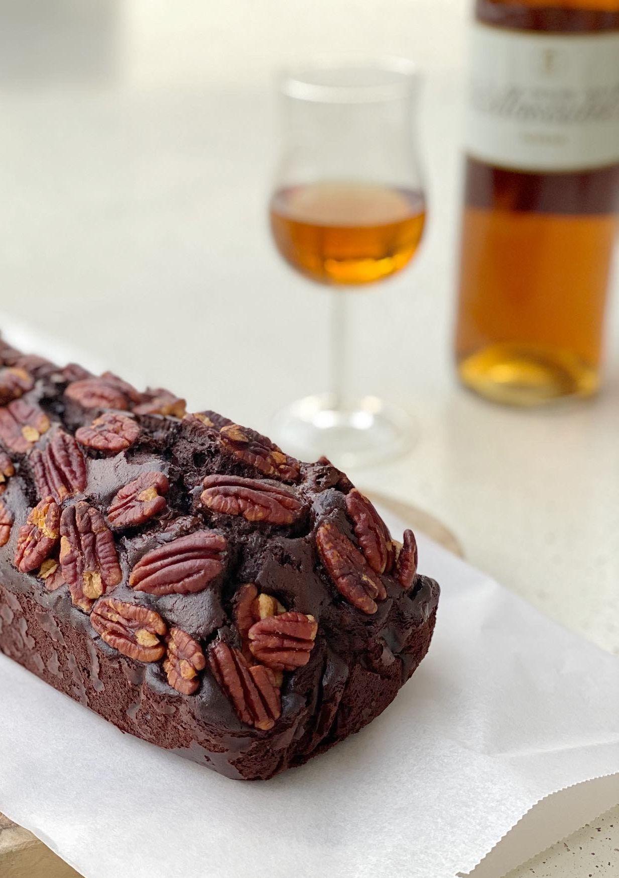 Wijnspijs: Chocoladetaart met walnoten