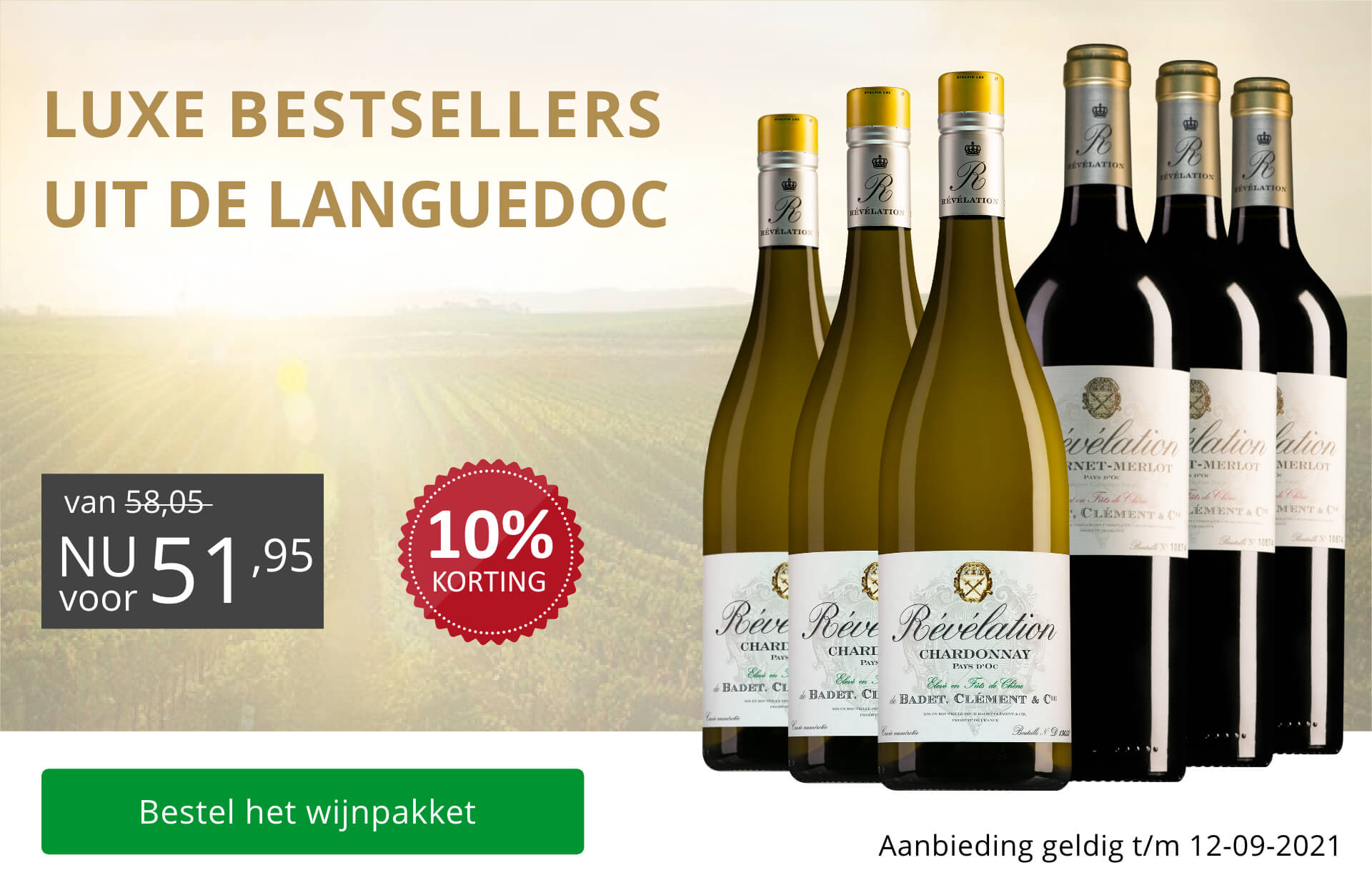 Wijnpakket Révélation - aug/sept 2021 (51,95)