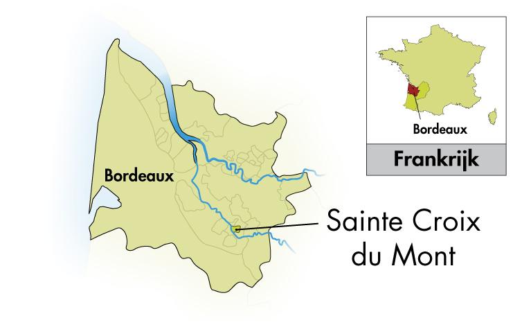 Château des Tours Sainte Croix du Mont halve fles